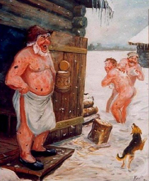 Секс мальчики моются в бане с мамами