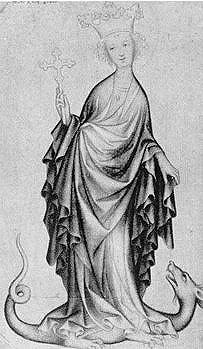 Екатерина с крестом в руке